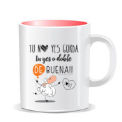 """BUENO fem."" Taza color interior"