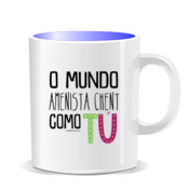 """COMO TU"" Taza color interior"