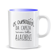 """QUEBRANTOS"" Taza color interior"