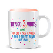 """3VIDAS"" Taza color interior"