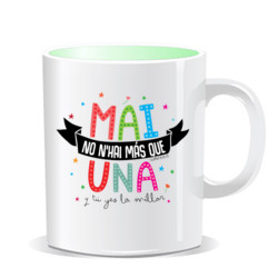 """UNA MAI"" Taza color interior"