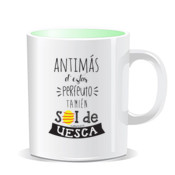 """PERFEUTO UESCA"" Taza color interior"
