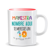 """MAYESTRA 10"" Taza PERSONALIZABLE color interior"