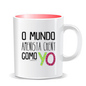 """COMO YO"" Taza color interior"