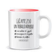 """TREBALLO"" Taza color interior"
