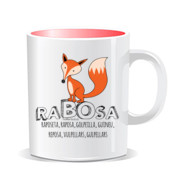 """RABOSA"" Taza color interior"