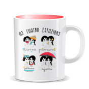 """4 ESTAZIONS"" Taza color interior"