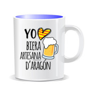 """BIERA D'ARAGÓN"" Taza color interior"