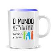 """COMO PAI"" Taza color interior"