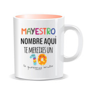 """MAYESTRO 10"" Taza PERSONALIZABLE color interior"