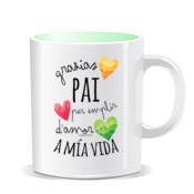 """EMPLIR pai"" Taza color interior"